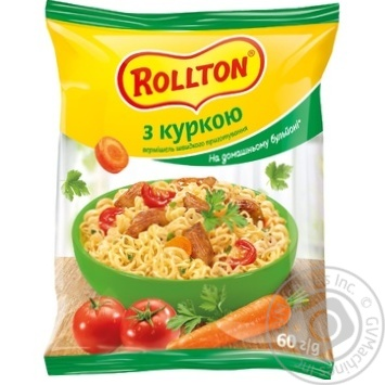 Rollton With Chicken Instant Noodles 60g