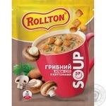 Суп Роллтон грибной с крутонами саше 15,5г