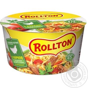 Лапша Роллтон яичная с курицей по-домашнему 75г - купить, цены на Таврия В - фото 1