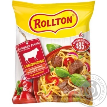 Pasta Rollton with beef ready-to-cook 85g packaged - buy, prices for Novus - image 1