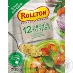 Приправа Роллтон универсальная 12 овощей и трав 80г - купить, цены на Novus - фото 1