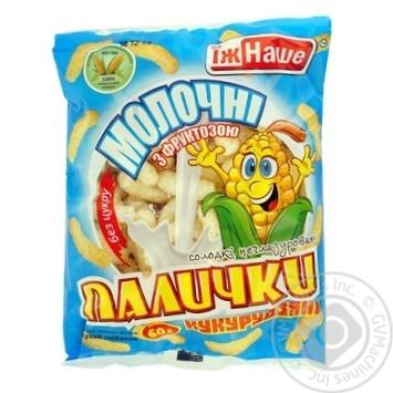 Палочки кукурузные Ешь Наше молочные с фруктозой 60г - купить, цены на МегаМаркет - фото 1