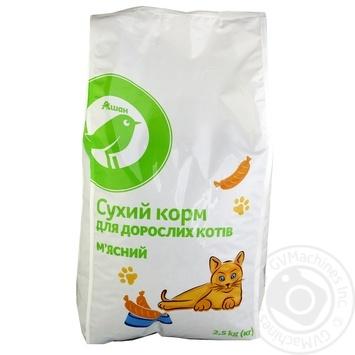 Сухой корм Ашан для взрослых кошек мясной 2.5кг