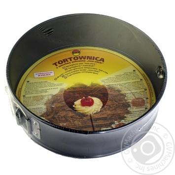 Форма для выпечки с антипригарным покрытием и гофрированным дном 210мм - купить, цены на Ашан - фото 1