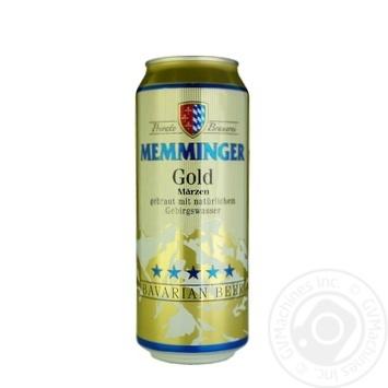 Пиво Memminger Gold светлое фильтрованное 5,3% 0,5л