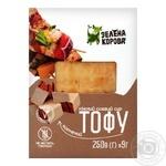 Сыр соевый Зеленая корова Тофу копченый 250г