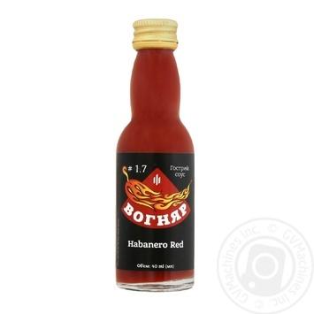 Соус Вогняр Habanero red 40мл - купить, цены на Ашан - фото 1