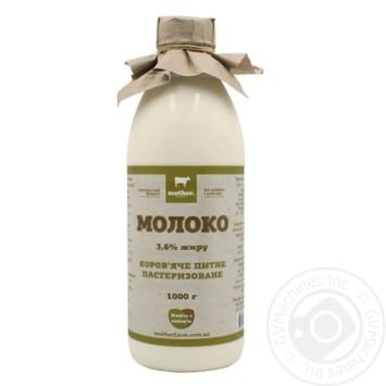 Молоко Mother Farm пастеризованное 3,6% 1кг - купить, цены на Novus - фото 1