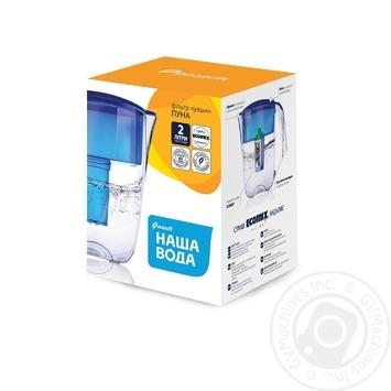 Кувшин-фильтр Наша Вода Луна 3,5л - купить, цены на Novus - фото 2