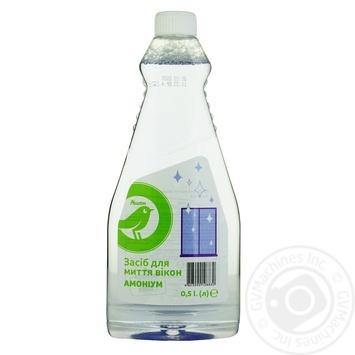 Засіб Ашан для миття вікон Амоніум 0,5л - купити, ціни на Ашан - фото 1