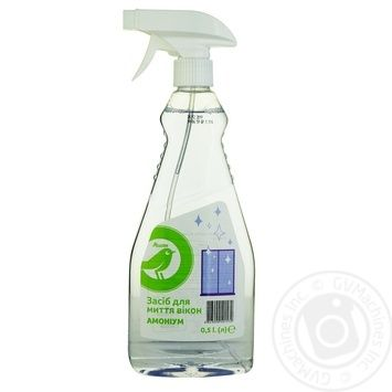 Auchan means for washing of windows ammonium 0,5l - buy, prices for Auchan - photo 1