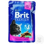 Food Brit Premium with chicken canned for cats 100g