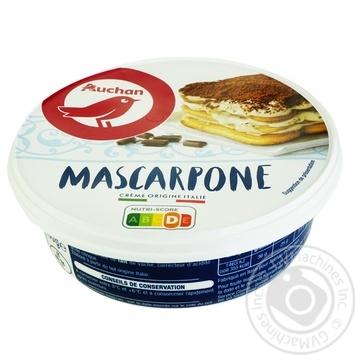 Сыр Ашан Маскарпоне мягкий 36% 250г - купить, цены на Ашан - фото 1