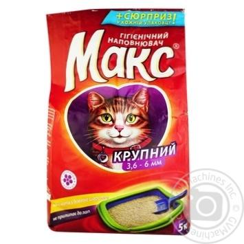 Наповнювач гігієнічний для тварин Макс великий 5кг - купить, цены на Novus - фото 1