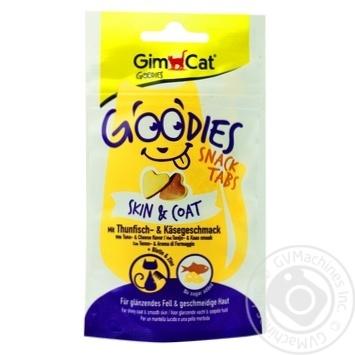 Снек GimCat Goodies Skin & Coat с тунцом и сыром для котов 40г - купить, цены на Ашан - фото 1