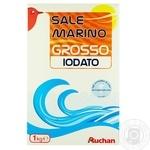 Морская соль Ашан пищевая йодированная крупная 1кг