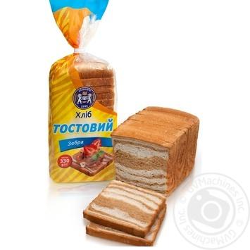 Хлеб Кулиничи Тостовый Зебра 330г - купить, цены на Novus - фото 1