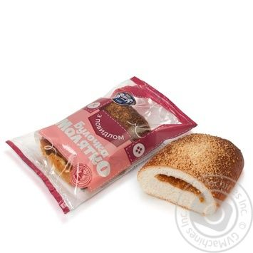 Булочка Кулінічі Малятко з повидлом 100г - купити, ціни на Ашан - фото 1