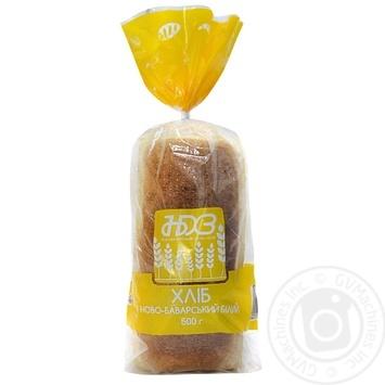 Хліб НБХЗ Ново-Баварский білий 500г - купить, цены на Ашан - фото 1