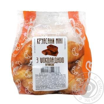 Круасани НБХЗ міні з шоколадною начинкою 200г - купить, цены на Ашан - фото 1