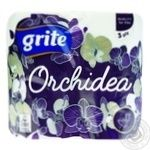 Grite Orchidea Gold Three-Layer Toilet Paper 4pcs