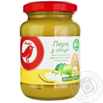 Auchan puree of apples for children from 4 months 200g - buy, prices for Auchan - photo 1
