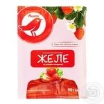 Auchan jelly with strawberry flavor 90g
