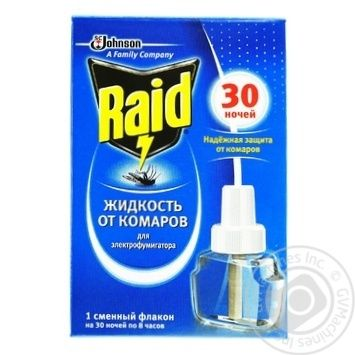 Жидкость от комаров Raid для электрофумигаторов 30 ночей 220мл - купить, цены на Novus - фото 1