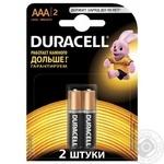 Батарейка Duracell aaa 2шт