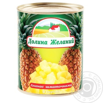 Dolyna Bazhan Pineapple Сhops In Syrup - buy, prices for Novus - image 1