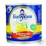 Кукурудза цукрова Бабусин продукт консервована 340г