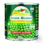 Горошек Долина Желаний зеленый Венгерский отборный 425мл - купить, цены на Novus - фото 1