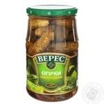Огірки Верес мариновані 770г - купити, ціни на МегаМаркет - фото 1