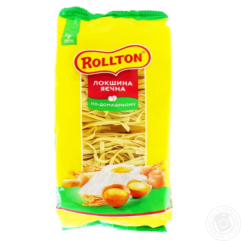Лапша яичная Роллтон по-домашнему 400г