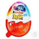Яйцо Kinder Joy Для девочек с двухслойной пастой на основе молока и какао и вафельными шариками покрытыми какао с молочным кремом внутри и с игрушкой 20г