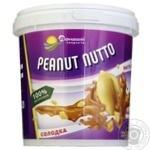Паста арахисовое Домашние продукты сладкая 400г