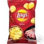 Чипси Lay's зі смаком бекону 133г