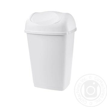Мусорник прямоугольный белый 9л - купить, цены на Ашан - фото 2