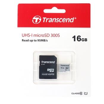 Карта пам'яті Transcend microSDHC 300S 16GB - купити, ціни на Ашан - фото 1