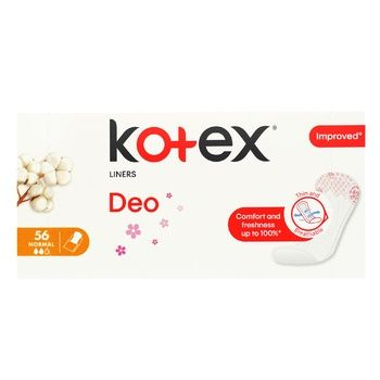 Ежедневные прокладки Kotex  Normal Deo 56шт - купить, цены на Ашан - фото 3