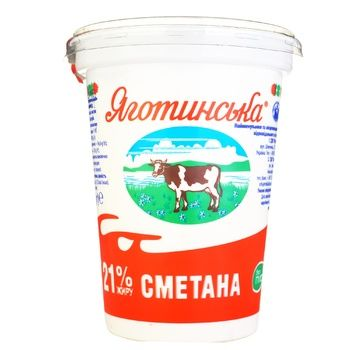 Yagotynska Sour Cream 21% 350g - buy, prices for Auchan - image 3