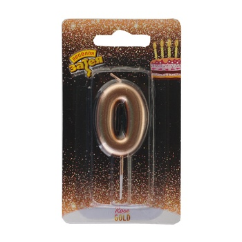 Veselaya Zateya Rose-Gold Number Candle 4.5cm - buy, prices for Auchan - photo 1