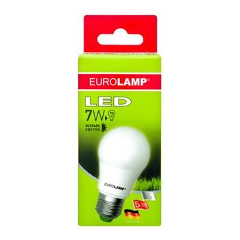 Лампа светодиодная Eurolamp LED E27 7W 4000K - купить, цены на Ашан - фото 1