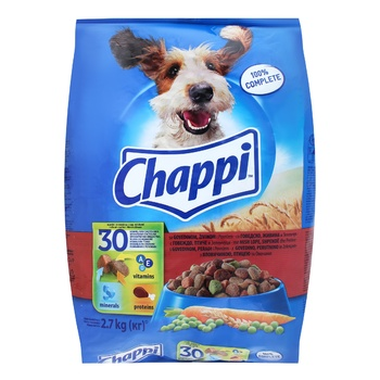 Chappi Dry food beef poultry and vegetables for dogs 2,7kg - buy, prices for Furshet - image 1