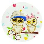 Тарелка Milika Сова десертная фарфоровая круглая 17,5см
