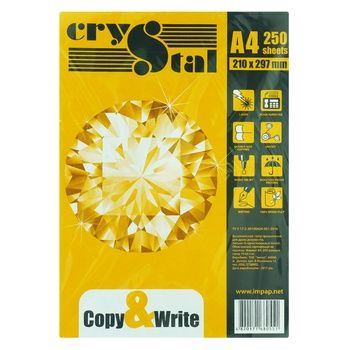 Crystal Copy&Write Office Paper A4 250 sheets - buy, prices for Auchan - photo 1