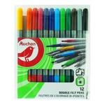 Auchan Colored Felt-Tip Pens Set 12pc