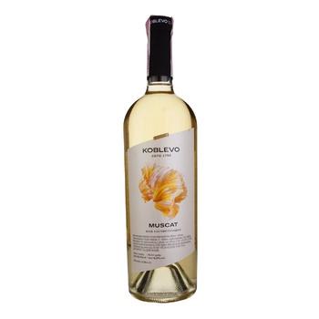 Вино біле Коблево Мускат виноградне ординарне столове напівсолодке 12% 750мл - купити, ціни на Novus - фото 1