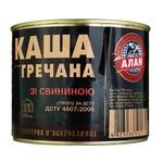Каша Алан гречневая со свининой консервированная 525г