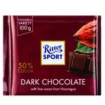 Шоколад Ritter Sport темный 50% 100г - купить, цены на Ашан - фото 1